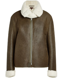 Yeezy Leather Jacket With Shearling