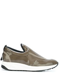 Maison Margiela Varnished Slip On Sneakers