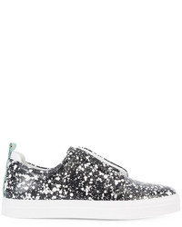 Pierre Hardy Patterned Slip On Sneakers