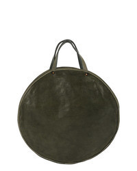 Olive Leather Tote Bag