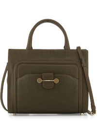 Jason Wu Daphne Leather Crossbody Tote Bag Olive