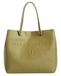 Marc Jacobs Logo Leather Shopper Black