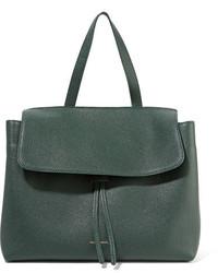 Mansur Gavriel Lady Tumbled Leather Tote Dark Green
