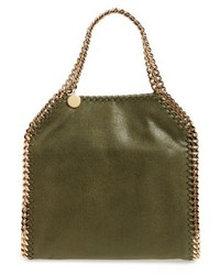 Mini falabella shaggy deer faux leather tote medium 5264644