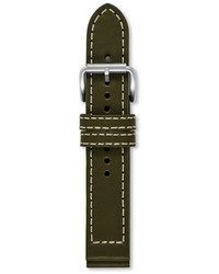 Defender 20mm leather watch strap olive green medium 337673