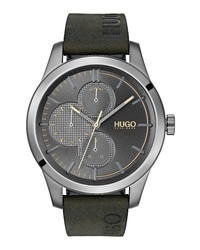 Hugo Discover Multifunction Leather Watch