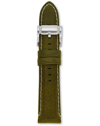 Fossil 22mm olive leather watch strap medium 254687