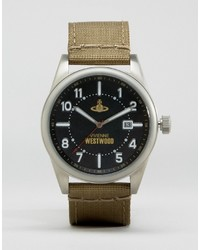 Vivienne Westwood Green Leather Strap Watch
