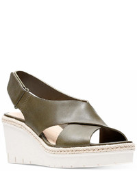 Clarks Artisan Palm Glow Wedge Sandals Shoes