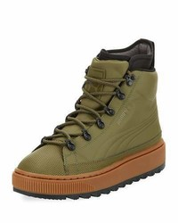 Puma Basket Mid Winter Olive High
