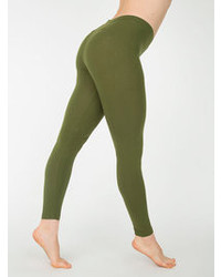 American apparel cotton spandex jersey legging medium 106845