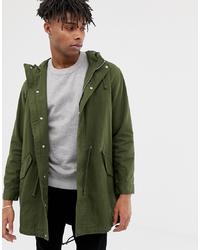 ASOS DESIGN Lightweight Parka Jacket In Khaki