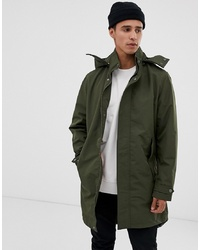 Jack & Jones Originals Lightweight Parka With Inside Camo Hood