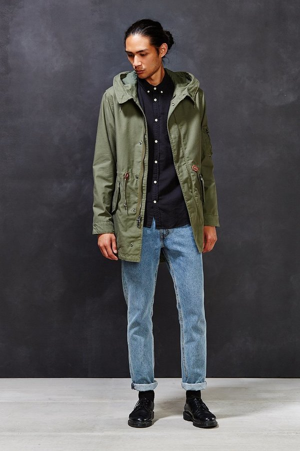 Alpha Industries X Uo Long Fishtail Parka Jacket | Where to buy ...