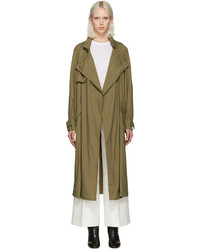 Khaki dracen trench coat medium 708878