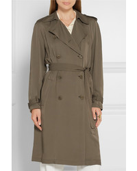 76370a1dd35 Theory Laurelwood Silk Crepe De Chine Trench Coat Army Green, $595 ...
