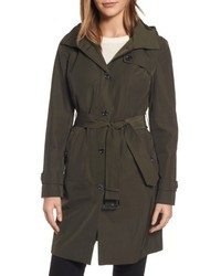 Michl michl kors packable trench coat with hood medium 4953465