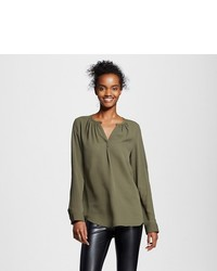 Mossimo Convertible Sleeve Blouse
