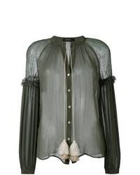 Wandering Fringed Sheer Blouse
