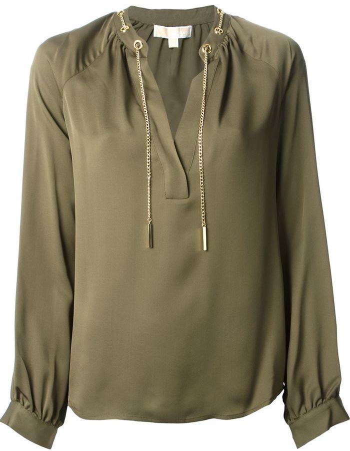 2e6a5b59c544 MICHAEL Michael Kors Michl Michl Kors Chain Collar Blouse, $253 ...