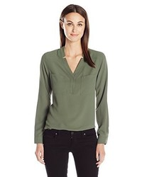 Nine West Long Sleeve Blouse Withpockets