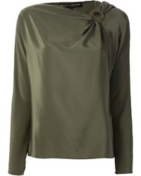 Ralph Lauren Black Gathered Detail Blouse