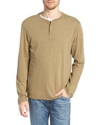 Olive Long Sleeve Henley Shirt