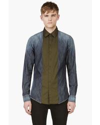 DSquared 2 Green Indigo Carpenter Shirt
