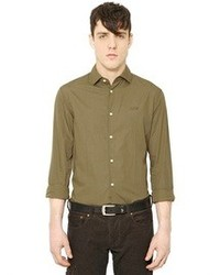 Armani Jeans Logo Embroidered Cotton Poplin Shirt
