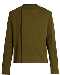 Haider Ackermann Collarless Long Sleeve Shirt