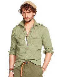 Denim & Supply Ralph Lauren Cotton Military Sport Shirt