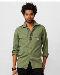 Denim & Supply Ralph Lauren Flag Back Military Shirt
