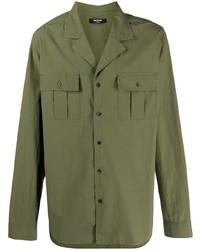 Balmain Flap Pocket Cotton Shirt