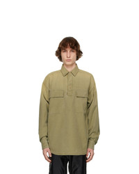 Fear Of God Green Canvas Military Pullover Shirt