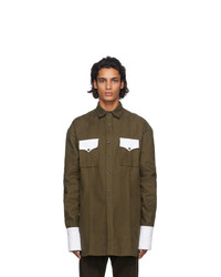 Boramy Viguier Green Cotton Shirt