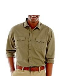 Haggar Life Khaki Twill Shirt