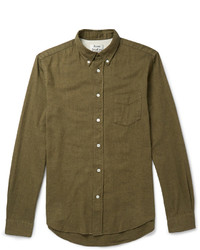 Acne Studios Isherwood Button Down Collar Cotton Flannel Shirt