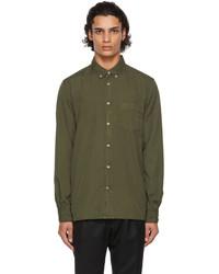 Officine Generale Khaki Cotton Arsene Shirt