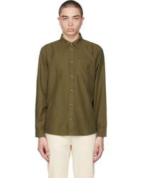 Nudie Jeans Khaki Fluid Twill Chuck Shirt