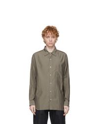 tss Khaki Pinstripe Faille Shirt