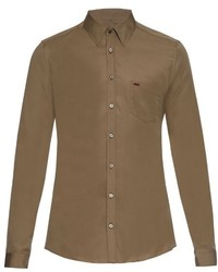 Gucci Long Sleeved Cotton Poplin Shirt