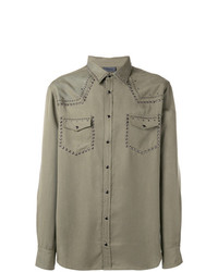 Laneus Metallic Embellished Shirt