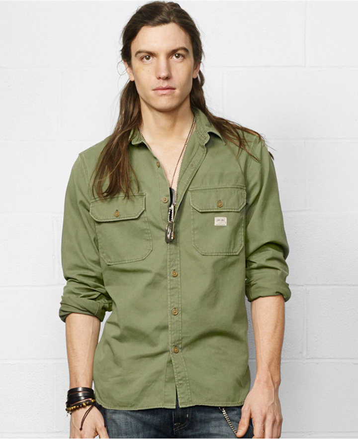 Sonderangebot New York geringster Preis $89, Denim & Supply Ralph Lauren Military Inspired Sport Shirt