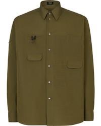 Fendi Multi Pocket Button Up Shirt