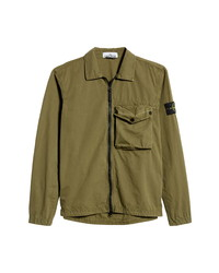 Stone Island Overshirt Zip Front Jacket