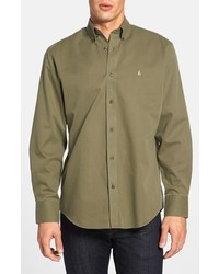 Nordstrom Shop Smartcare Traditional Fit Twill Boat Shirt