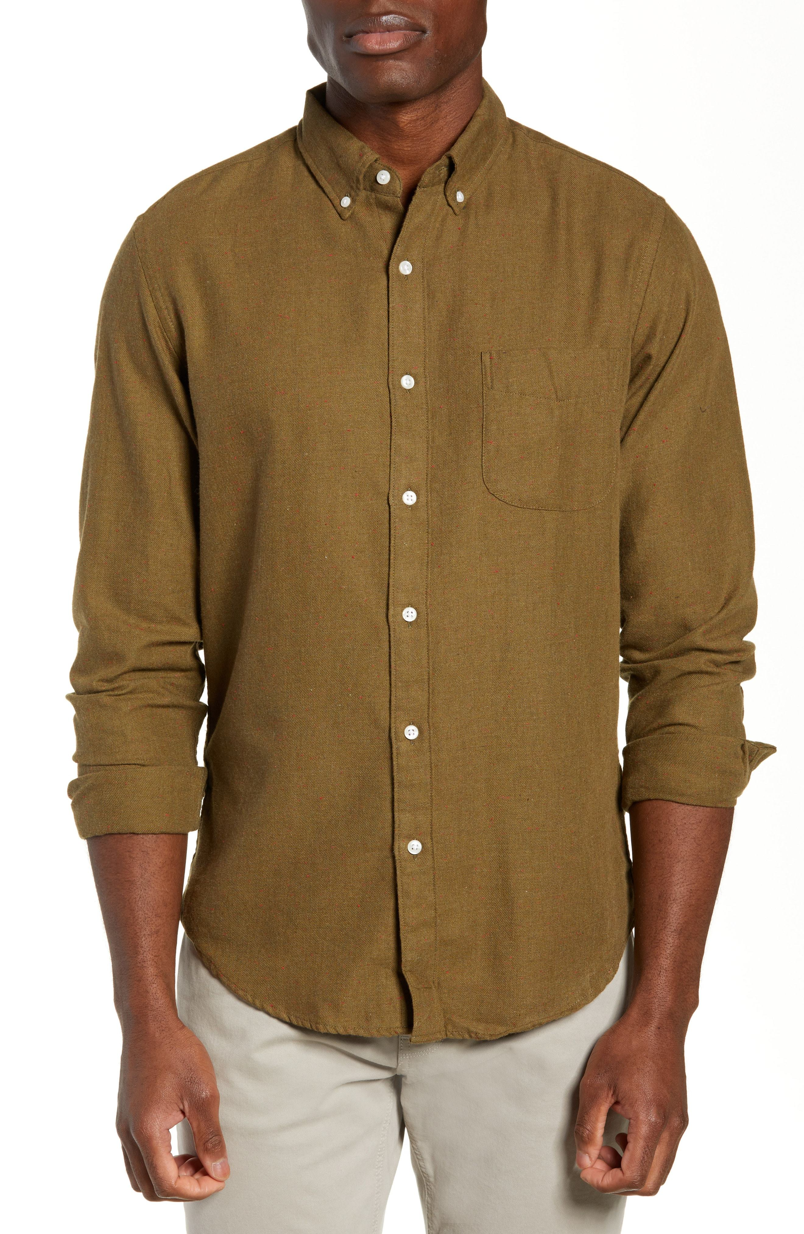 a245950a4f0e J.Crew Slim Fit Neppy Twill Sport Shirt, $41   Nordstrom   Lookastic.com