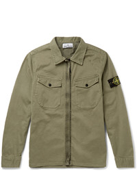 Stone Island Slim Fit Stretch Cotton Overshirt