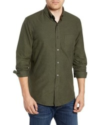 Nordstrom Men's Shop Traditional Fit Brushed Twill Sport Shirt