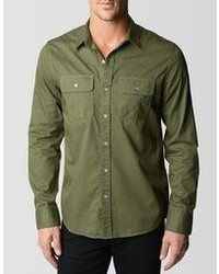 True Religion Triple Needle Workwear Shirt